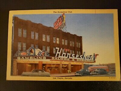 c1950 The Horseshoe Club and Hotel Apache, Las Vegas, Nevada Postcard