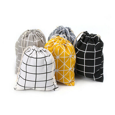 Travel Portable Drawstring Storage Bags Cotton Clothing Shoes Pouch Makeup Bag