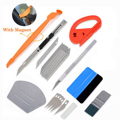 Vinyl Wrap Magnetic Squeegee Micro Scraper Kit Auto Sign Making Wrapping Tools
