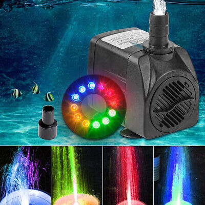 800L/H Electric Water Feature Pump Small Fountain for Outdoor Garden Fish Pond