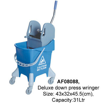COMMERCIAL MOP BUCKET WRINGER/CLEANING BUCKET-YELLOW or BLUE  - 31 LTR