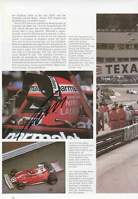 Niki Lauda Authentic Signed F1 Book Page Aftal#198