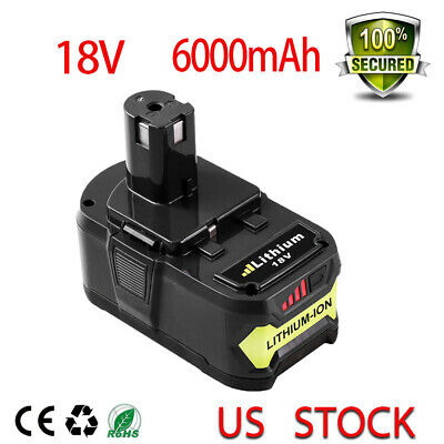 18V 6000mAh Replacement  For Ryobi Lithium-Ion Battery One+  P102 P107 P104 P108
