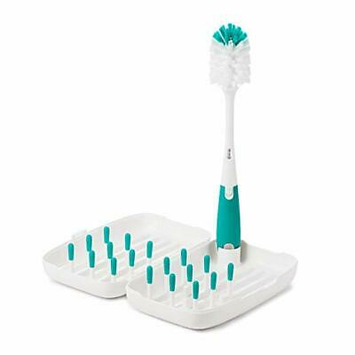 OXO Tot On-The-Go Drying Rack with Bottle Brush, Teal