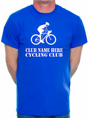 Mens T-Shirt Customised Tee Cycling Club Name Here Choose Your Team Name