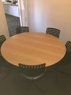 5 Foot Round Conference Table and 6 Chairs , IKEA Sporren 23073