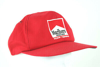 Vintage 80s 90s Marlboro Racing Team Penske Hat K Products SnapBack Made In USA