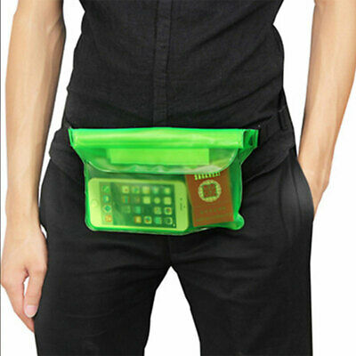 2Pcs Phones Pouch Waterproof Pocket PVC Waist Bag w/ Straps Swimming Underwater
