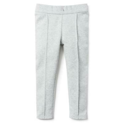 NWT Janie and Jack Girls Heather Grey Ponte Pants w/Front Seams Size 12
