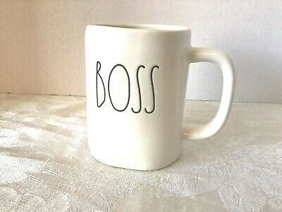 Rae Dunn BOSS Coffee Mug Cup By Magenta New Large Letter NEW