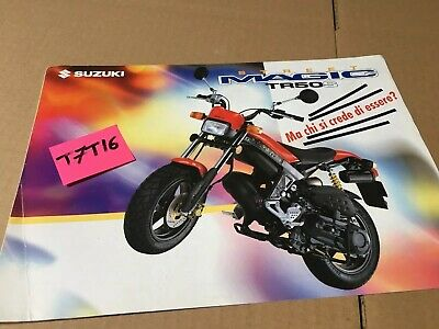 Suzuki Street Magic 50 TR50S prospectus catalogue publicité brochure en italien