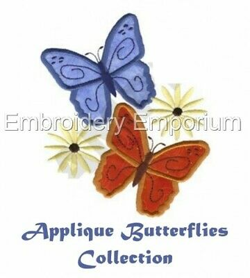 Applique Butterflies Collection - Machine Embroidery Designs On Cd Or Usb
