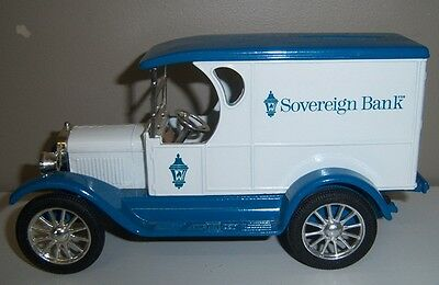 Replica Chevrolet 1923 Sovereign Bank Delivery Van Die Cast Metal Car Bank