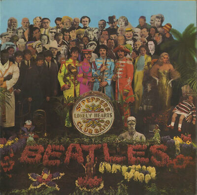 Sgt. Pepper's - 1st - Complete - VG Beatles UK vinyl LP album record PMC7027