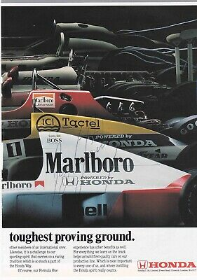 Aryton Senna Authentic Signed F1 Book Page Aftal#198