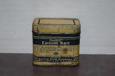 Vintage Puretest Epsom Salt Tin From Rexall