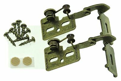 """2 FULL WRAP Self Closing Cabinet Hinge 1/2"""" Overlay Antique Brass Youngdale #65R"""