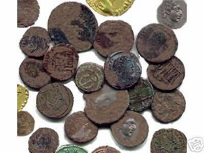 10 Lot of HIGH Quality Uncleaned and Ungraded Roman coins With Bonus  !!
