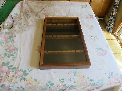 Vintage Spoon Display Rack With Glass Holds 24   Lot 19-56-3