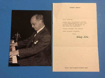 Rudolf Serkin (Greatest 20th Century Bohemian Pianist) Typed Letter Signed