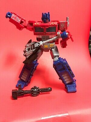"""R202 Optimus Prime Transformers Seige  6""""-7"""" Loose Figure with Blaster and Axe"""