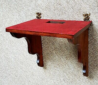 Antique pre 1900 mahogany clock bracket in first class condition.