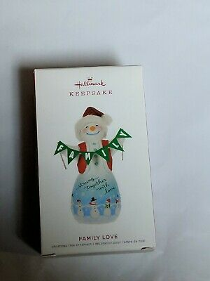 Hallmark Keepsake 2019 Family Love Snowman Porcelain Ornament