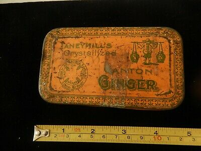 { Rare Vintage TaneyHill's Crystallized Ginger Advertising Tin