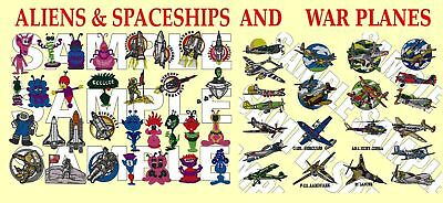 Aliens & Spaceships Also War Planes, Pes Embroidery Machine Designs Cd