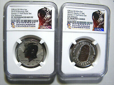 2019 S SILVER Apollo11 50th Anniversary Curved Half Dollar NGC PF70 MS70 FR ASF