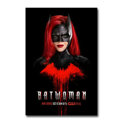Batwoman 2019 TV Series Comics Ruby Rose Silk Canvas Poster Print 24x36 inch