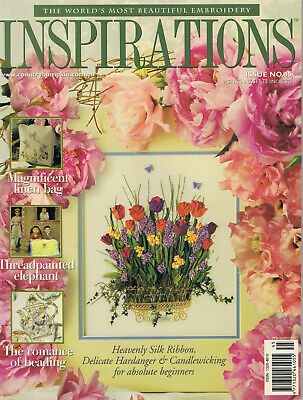 INSPIRATIONS MAGAZINE issue 45  PATTERNS STILL ATTACHED vgc