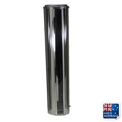 Stainless Steel Cup Dispenser Wall Mounted 600x87mm To Suit 75-80mm Cup