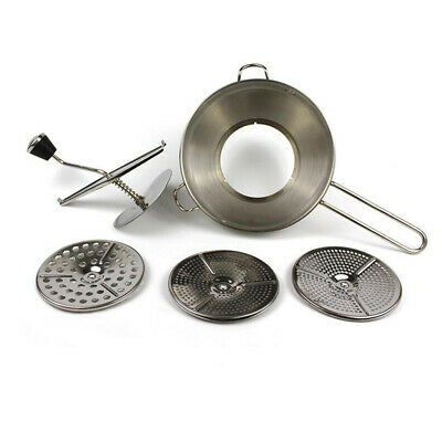 Tomato Food Strainer and Sauce Maker Juicer Food Mill Silver w/ 3 Milling Discs