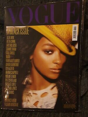 Vogue Italia - All Black Special Edition - Jordan Dunn Front Cover July 2008