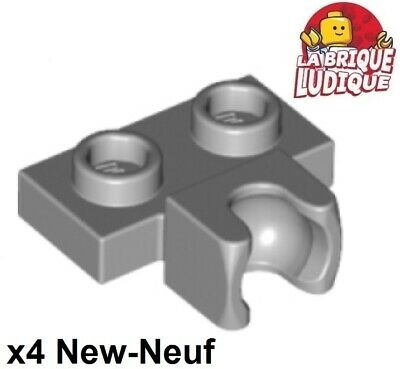 Lego 2x Plate Modified 1x2 Towball /& Small Towball dark bluish gray 14419 NEUF