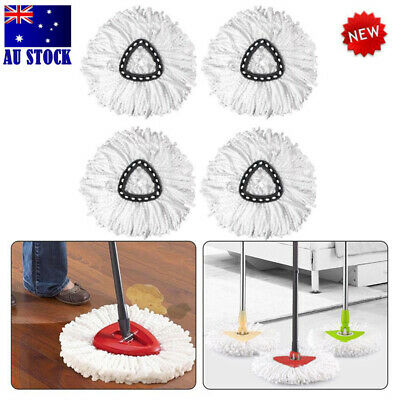 2/5PCS Microfiber Mop Head Refill for Magic Hurricane Spin Mop Replacement
