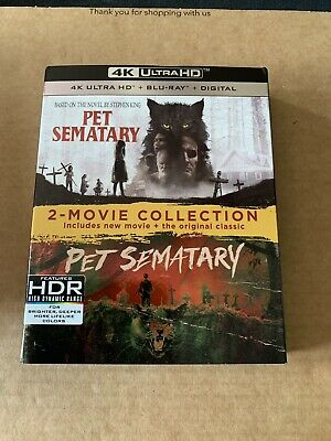 Pet Sematary 4K Blu Ray 2 Movie Collection NEW & SEALED Horror 1989 & 2019 Films