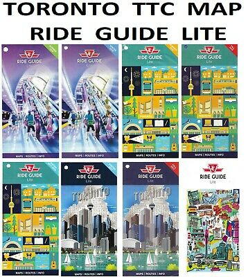 Toronto Bus And Subway Map.2016 Toronto Ttc System Map Ride Guide Mini Subway Rail Very Small
