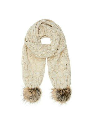John Lewis Childrens Cable Knit Scarf / Natural One Size Free P&P UK Seller