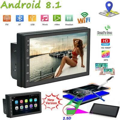 "Android 8.1 Autoradio 7 ""2 DIN GPS NAVI MP5 1080P Radio Bluetooth WIFI FM TFT DE"