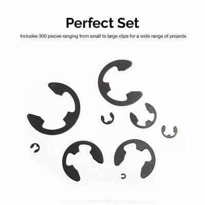 120x 304 Stainless E-Clip Retaining Snap Ring Circlip Assortment Kit 1.5-10mm TY