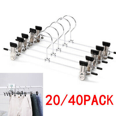 Clothes Hangers Stainless Steel Shirts Clips Space saving Pants Durable