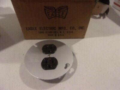 Lot Of 10 Eagle 869-4 Parallel Grounding Duplex Receptacles On Cover 15 A 125V