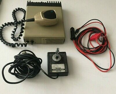 Vintage Motorola Traxar Radio WORKING-TESTED with Microphone and Antena Base