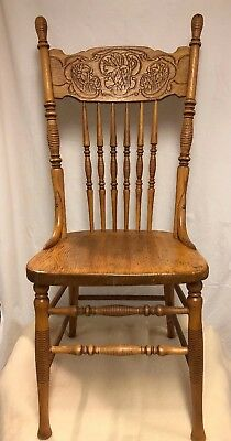 Antique Press Back Chair