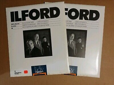 2-Ilford Multigrade IV DC Deluxe MGD.25M 10ct=20sheets 11x14 Satin