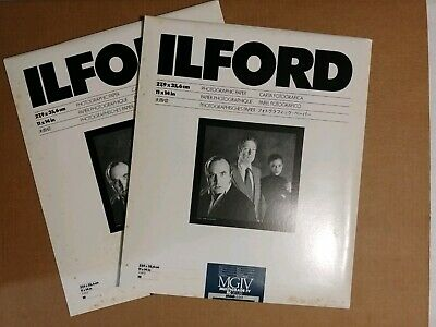 2-Ilford MGIV Multigrade IV RC Deluxe MGD.44M Pearl 11x14 10ct=20sheets