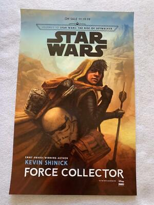 """STAR WARS FORCE COLLECTOR - 11""""x17"""" Original Promo Poster SDCC 2019 MINT Shinick"""