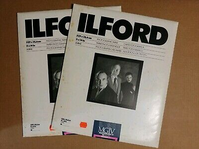 2-Ilford Multigrade IV RC Deluxe MGDIV.1M Glossy B&W 10ct=20 sheets 11x14